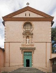 Ancien grand séminaire - English:  Carmelite chapel built in 1622. Facade, Perigord street in Toulouse. Architect: Didier Sansonnet</dd>