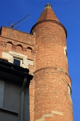 Tour de Serta - Français:   Tour de Serta à Toulouse vue de la rue Saint Rome