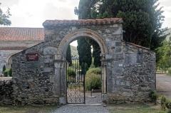Cimetière -  Gateway to the churchyard, 13th century, Valcabrère, Haute-Garonne, France.
