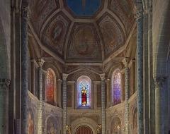 Eglise Saint-Pierre et Saint-Phébade - English:  Venerque. Church Saint-Pierre-et-Saint-Phébade, view choir paintings, Carolingian inspiration.