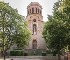 Porte Vauraise - English:  Verfeil, Haute-Garonne, France  - Church Saint Blaise. Facade on Promenade Jean Jaurès