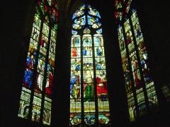 Cathédrale Sainte-Marie - Cathédrale Sainte-Marie d'Auch, Gers. Vitraux d'Arnaud de Moles. La chapelle Sainte-Catherine.