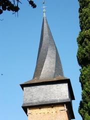 Eglise -  le clocher tors de la collégiale Sain Jean-Baptiste de Barran dans le Gers (France)