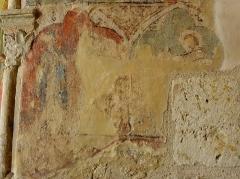 Eglise de Vopillon - Peintures murales de l'église Notre-Dame de Vopillon, commune de Beaumont (32). Présentation de Jésus au Temple et recouvrement de Jésus dans le Temple.