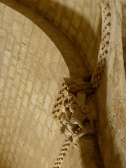 Eglise Saint-Sigismond - Église Saint-Sigismond de Larressingle (32). Chapiteau.