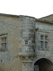 Château de Madirac - English: Turret of the castle of Madirac, historical monument in La Romieu (Gers, France)