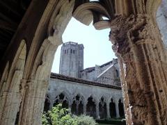 Eglise et cloîtres - Collégiale et cloître ont été bâtis par le cardinal Arnaud d'Aux, 14e siècle; 15e siècle