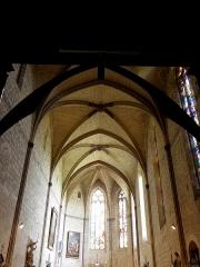 Eglise et cloîtres - Intérieur de la collégiale Saint-Pierre de La Romieu (32).