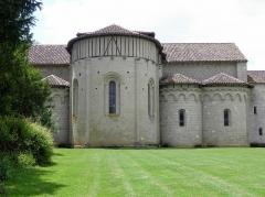 Ancienne abbaye de Flaran - Abbaye de Flaran, commune de Valence-sur-Baïse (32). Chevet de l'abbatiale.