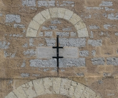 Pont Valentré - English: Niche on the central tower of the Pont Valentré in Cahors, Lot, France        This place is a UNESCO World Heritage Site, listed as Chemins de Saint-Jacques-de-Compostelle en France.  العربية | asturianu | беларуская | беларуская (тарашкевіца)‎ | বাংলা | català | čeština | dansk | Deutsch | English | español | euskara | فارسی | français | עברית | hrvatski | magyar | italiano | 日本語 | 한국어 | latviešu | македонски | മലയാളം | مازِرونی | Nederlands | polski | português | português do Brasil | română | русский | sicilianu | slovenčina | slovenščina | Türkçe | українська | Tiếng Việt | 中文 | 中文(中国大陆)‎ | 中文(简体)‎ | 中文(繁體)‎ | 中文(台灣)‎ | +/−