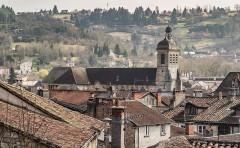 Eglise Saint-Sauveur - English: View of the Saint Saviour church of Figeac, Lot, France