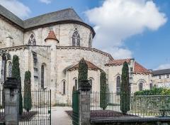 Eglise Saint-Sauveur - English: Bedside of the Saint Saviour church of Figeac, Lot, France
