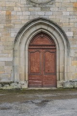Hôpital - English: Portal of the chapel of the hospital in Figeac, Lot, France