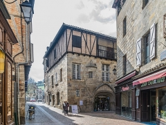 Maison - English: Hôtel de Viguier d'Auglanat in Figeac, lot, France