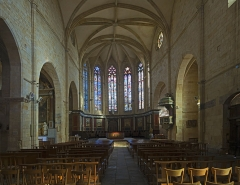 Eglise Saint-Pierre - English:  Chuch St.Peter in Gourdon, Lot, France. Interior.