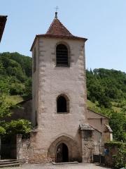 Eglise - Français:   Tour-clocher de l\'église Saint-Martin de Lunan, dans le Lot (France)