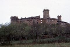 Eglise du château de Castelnau-de-Bretenoux - English:  The Castke of Castelnau-Bretenoux, view from road to Prudhomat.