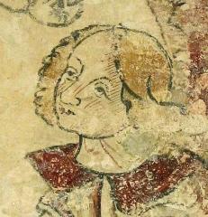 Eglise de Martignac - Nederlands: Martignac (Puy-l'Évêque), Lot, Midi-Pyrénées, St-Pierre-ès-Liens-kerk, fresco (detail), XIIe - XVe eeuw.