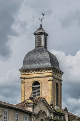Eglise des Récollets - English: Bell tower of the Recollects Church of Saint-Céré, Lot, France