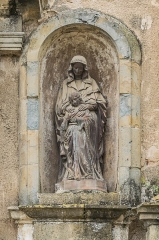 Eglise des Récollets - English: Figure in the wall of the Recollects Church of Saint-Céré, Lot, France