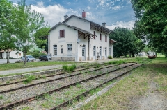 Gare - English: Closed railway station of Cajarc, Lot, France