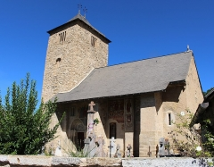 Eglise Saint-Barthélémy et ses annexes (tour et chapelle) - Église Saint-Barthélemy de Mont (Hautes-Pyrénées)