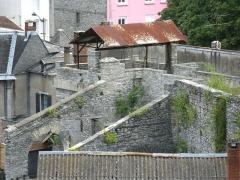 Ancien four a chaux - Français:   Four à chaux de Lourdes avec son lanterneau. On voit l\'une des deux gargouilles en forme de mouton, à gauche de la plate-forme.