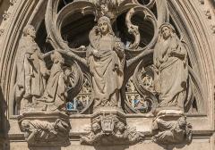 Cathédrale Sainte-Cécile - English: Detail of the portail of the Saint Cecilia Cathedral of Albi, Tarn, France       This place is a UNESCO World Heritage Site, listed as Cité épiscopale d'Albi.  العربية| Asturianu| Беларуская| Беларуская (тарашкевіца)| বাংলা| Català| Čeština| Dansk| Deutsch| English| Español| Euskara| فارسی| Français| עברית| Hrvatski| Magyar| Italiano| 日本語| 한국어| Latviešu| Македонски| മലയാളം| مازِرونی| Nederlands| Polski| Português| Русский| Slovenčina| Slovenščina| Türkçe| Українська| Tagalog| Tiếng Việt| 中文(简体)| 中文(繁體)| +/−