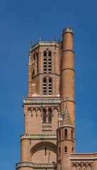 Cathédrale Sainte-Cécile - English: Bell tower of the Saint Cecilia Cathedral of Albi, Tarn, France       This place is a UNESCO World Heritage Site, listed as Cité épiscopale d'Albi.  العربية| Asturianu| Беларуская| Беларуская (тарашкевіца)| বাংলা| Català| Čeština| Dansk| Deutsch| English| Español| Euskara| فارسی| Français| עברית| Hrvatski| Magyar| Italiano| 日本語| 한국어| Latviešu| Македонски| മലയാളം| مازِرونی| Nederlands| Polski| Português| Русский| Slovenčina| Slovenščina| Türkçe| Українська| Tagalog| Tiếng Việt| 中文(简体)| 中文(繁體)| +/−