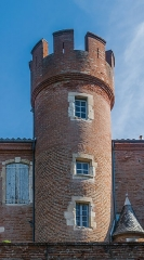 Ancien hôtel du Bosc (maison natale du peintre Henri de Toulouse-Lautrec) - English: Turret of Hôtel du Bosc in Albi, Tarn, France