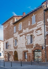 Maison - English: Buildings at 1 rue des Foissants in Albi, Tarn, France
