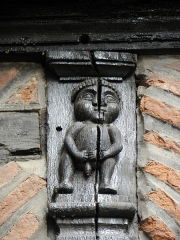 Maison Enjalbert - Français:   Détail sculpté de la façade méridionale de la maison Enjalbert d\'Albi (81).