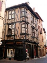 Maison Enjalbert - Français:   Maison Enjalber, Maison à colombages à Albi