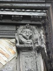 Maison Enjalbert - Français:   Poteau d\'angle de la maison Enjalbert d\'Albi (81).