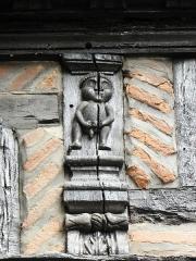Maison Enjalbert - Français:   Détail de la façade méridionale de la maison Enjalbert d\'Albi (81).