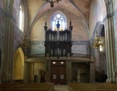 Eglise Saint-Michel -  À Gaillac (Tarn, France), berceau de la famille Cavaillé, dans l\'abbatiale Saint-Michel, orgue de Joseph & Jean-Pierre Cavaillé en 1755, reconstruit par Dominique-Hyacinthe Cavaillé-Coll en 1824, restauré par Jean-Loup Boisseau & Bertrand Cattiaux en 1973.
