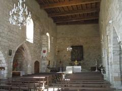 Eglise Sainte-Catherine - Français:   Église Sainte-Catherine de Penne,  (Inscrit, 1954) intérieur très sobre au chevet plat