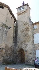 Eglise Sainte-Catherine - Français:   Clocher avec porte de l\'église de Penne