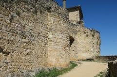 Deuxième porte de l'Irissou et ses deux tours d'enceinte - English: Puycelsi. City walls. Second Irissou gate.