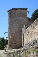 Deuxième porte de l'Irissou et ses deux tours d'enceinte - English: Puycelsi. City walls.