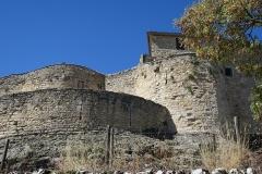 Deuxième porte de l'Irissou et ses deux tours d'enceinte - English: Puycelsi. City walls. Porte de l'Irissou (gate in the city wall).