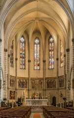 Eglise Notre-Dame de l'Assomption - English: Interior of the church of Our Lady of the Assumption in Caussade, Tarn-et-Garonne, France