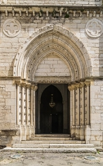 Eglise Notre-Dame de l'Assomption - English: Portal of the church of Our Lady of the Assumption in Caussade, Tarn-et-Garonne, France