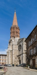 Eglise Notre-Dame de l'Assomption - English: Bell tower of the church of Our Lady of the Assumption in Caussade, Tarn-et-Garonne, France