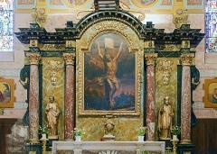Eglise Saint-Martin - English:  Church of St. Martin in Finhan, Tarn-et-Garonne France - altarpiece.