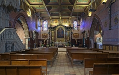 Eglise Saint-Martin - English:  Church of St. Martin in Finhan, Tarn-et-Garonne France - interior
