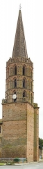 Eglise Saint-Martin - English:  The Church of St. Martin in Finhan, Tarn-et-Garonne France - Bell tower