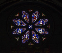 Eglise Saint-Martin - English:  Grisolles. St. Martin Church. Rose window.