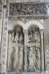 Eglise Saint-Pierre et son cloître -  Église Saint-Pierre de Moissac, portail méridional, côté droit