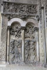Eglise Saint-Pierre et son cloître - Église Saint-Pierre de Moissac, portail méridional, côté gauche